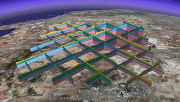 RockWorks fence diagram in Google Earth